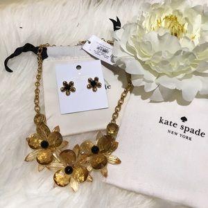 Kate Spade ♠️ flower 🌺 necklace, earrings set nwt